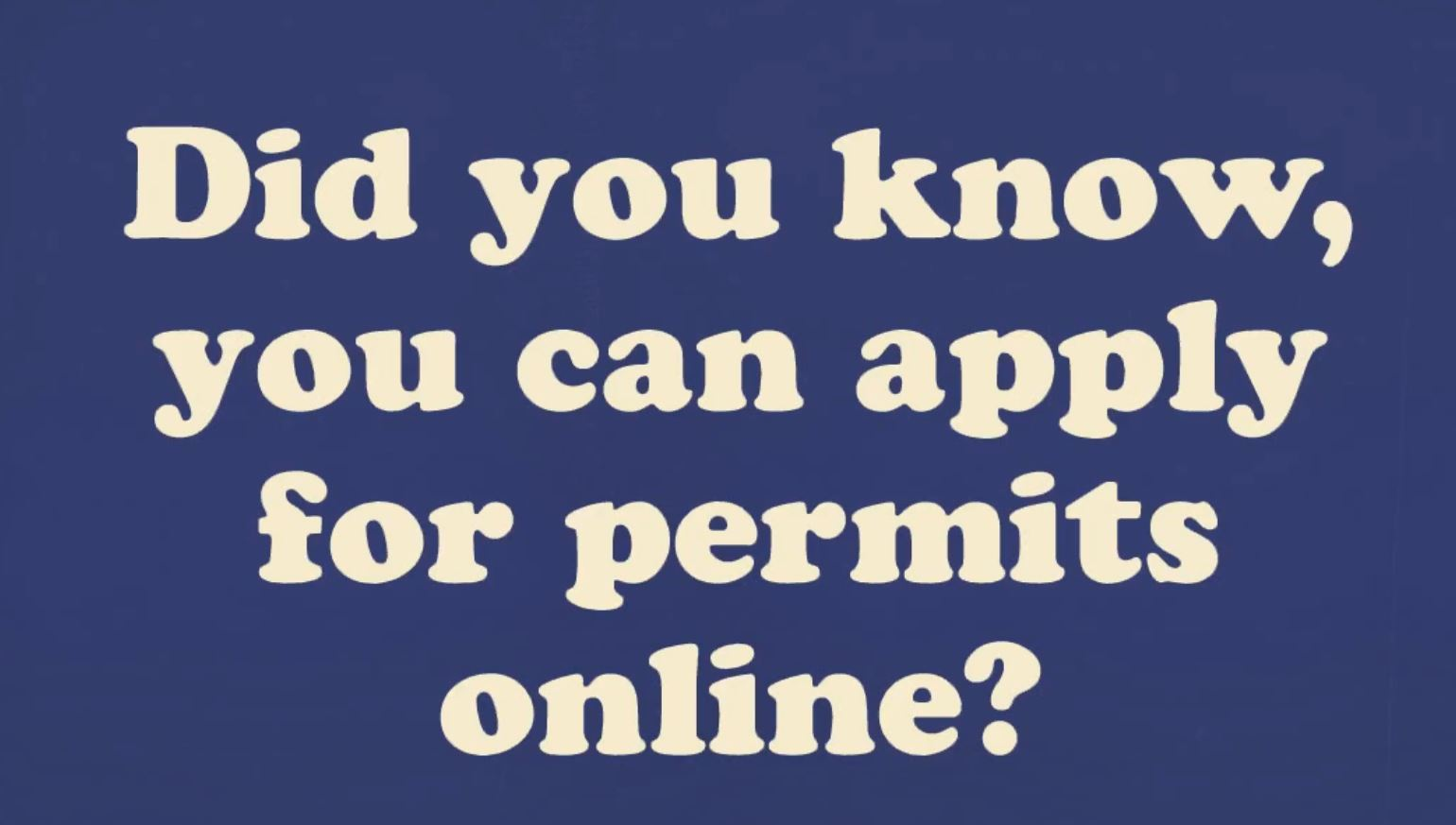 Online Permitting Video