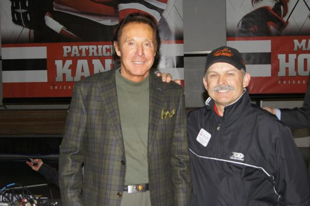 Blackhawks legend Tony Esposito and Connie Kowal at Blackhawks Roadwatch Party at the Libertyville Sports Complex April 9 2013